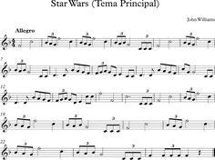 Descubriendo la Música. Partituras para Flauta Dulce : Star Wars (Tema Principal)