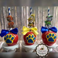 I hope you enjoy these amazing PAW PATROL ideas. Paw Patrol Cupcakes, Paw Patrol Cake, Paw Patrol Party, Paw Patrol Birthday, 4th Birthday Parties, 3rd Birthday, Paw Patrol Decorations, Cumple Paw Patrol, Candy Apples
