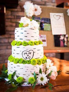 Rustic Wedding Cake: Photo by Irina & Dustin Photography via Heather Renee Celebrations