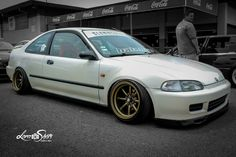 92-95 #Honda #Civic_Si #Coupe #EJ1 #Lowered #Slammed #Modified #Stance