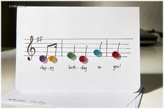 Quilling Grußkarte Musik Geburtstag Happy Birthday