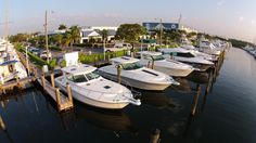 Our location in Ft. Lauderdale/Dania Beach, Florida in Harbour Towne Marina. #yachts #florida