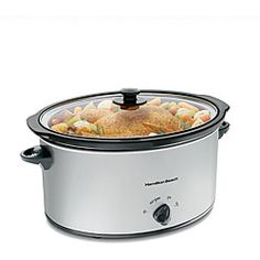 @Overstock - Hamilton Beach slow cooker makes cooking for the whole family easy Crock pot cooks evenly With this 7-quart slow cooker, meals are ready when you arehttp://www.overstock.com/Home-Garden/Hamilton-Beach-33176-7-quart-Oval-Slow-Cooker/3907259/product.html?CID=214117 $37.04