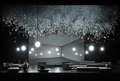 Klaus Grünberg, set and light design for AIDA, Opernhaus Zürich, 2014