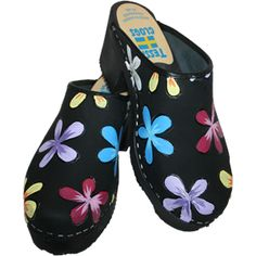 Black Oil High Heel Annika, your choice of snap-strap, Tessa Clog