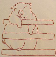 Block #9 Farm Quilt (lasassone) Tags: redwork rubymckim farmquilt