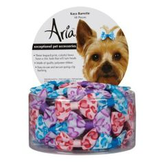 Aria Polyester Kaya Dog Barrettes Canister, 1-1/2-Inch, 48-Pack - Apparel & Accessories #Pet #Pets #Accessories #Apparel #Clothes #Clothing #Christmas #Holiday #Holidays #Wish #List #Idea #Ideas #Dog #Dogs #PetAccessoryStore $16.24