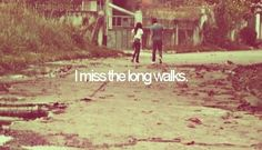 ...Walking to school or the park... I miss how we used to be... It's sad knowing it will never be the same...