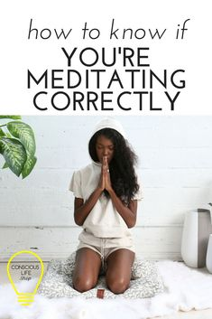 "How to meditate correctly. Ever sat down to meditate and think, ""Am I doing this right? Here is a simple guide to know if you're meditating correctly! Click the link to grab your FREE EBOOK: How to Create A Meditation Practice You Can Stick To Zen Meditation, Meditation For Anxiety, Types Of Meditation, Meditation For Beginners, Meditation Benefits, Meditation Techniques, Meditation Quotes, Meditation Practices, Meditation Images"