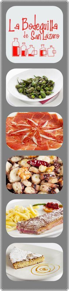 """""""Las Bodeguillas"""" son siempre un acierto. Estos restaurantes están situados en Santa Marta, San Roque y San Lázaro. Éste último se encuentra en la última etapa del camino francés (quizá te coja de camino). Es un restaurante de diseño moderno y actual.  Combinan a la perfección los platos tradicionales con un toque vanguardista. Y nada mejor para acompañar estos platos, que un buen vino de su amplia carta. Muy recomendable. http://bodeguilladesanroque.com/es/platos/san-lazaro…"""