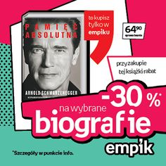"""Kulturysta, aktor, biznesmen, polityk… Znacie go w różnych wcieleniach :) Właśnie ukazała się """"Pamięć Absolutna"""" ukazująca niezwykłą karierę Arnolda Schwarzeneggera! A u nas ciekawa promocja dotycząca biografii :)"""