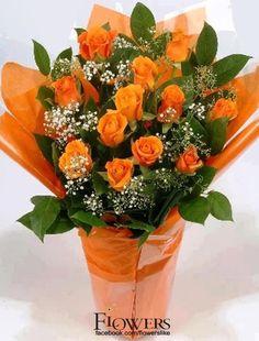 flowers.quenalbertini: Orange roses