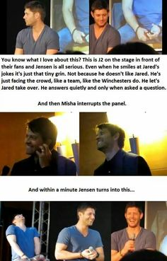 Jensen Ackles Laughing // Cockles // J2 on stage // Misha // Panel