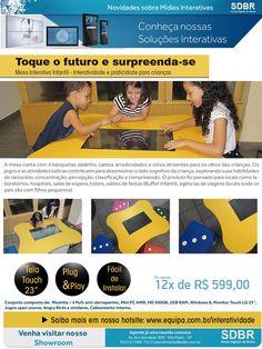 Mesa Interativa Infantil - Toque o futuro e surpreenda-se