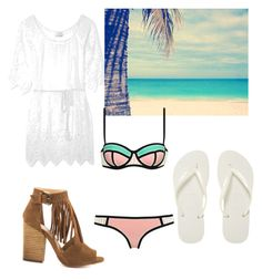 """""""summer lovin"""" by fashionable-fun ❤ liked on Polyvore featuring Miguelina, Chinese Laundry, Cotton Candy and Havaianas"""
