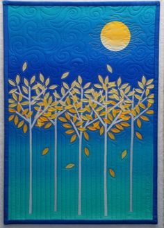 .i've never seen a #quilt like this before. The #trees and the #moon are great!