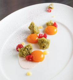"""The Art of Plating: Growing a Delicious """"Rock Garden"""". Star pastry chef Michael Laiskonis shows us his presentation philosophy and tricks, in step-by-step photos. Gilttaste.com"""