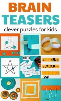Brain teasers and puzzles for kids enhance math skills.