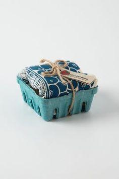 Berry Dishtowel Basket