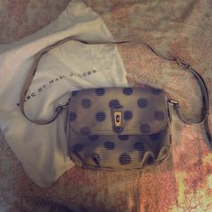 Black and White Polka Dot Leather Crossbody Only used about 5 times. The inside is immaculate! No signs of wear. Ships with dust bag. Less on M. Marc by Marc Jacobs Bags Crossbody Bags
