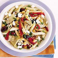 Penne Greek-Style with Chickpeas #recipe #greekfood #womansday