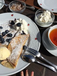 Best Blueberry Pancake at Kleine Teestube in Keitum/Sylt.