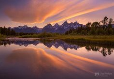 Cloud Reflections, Snake River, Grand Tetons by Chip Phillips on 500px