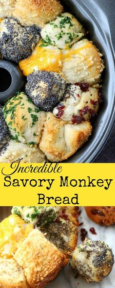 Incredible Savory Monkey Bread....a possible variation using the Crazy dough recipe.