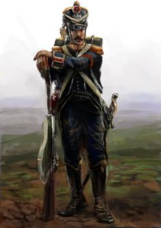 French Skirmisher 1809 by Mitchellnolte.deviantart.com on @DeviantArt