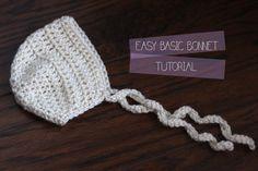 Simple Basic Newborn Bonnet - Photography Prop