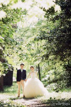 森の中でにこにこ前撮り* |*ウェディングフォト elle pupa blog*|Ameba (アメーバ)