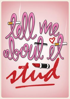 Grease 'Tell me about it stud' Illustration Print by thisissmart, £4.50