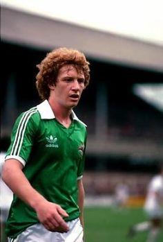 Jimmy Nicholl Northern Ireland 1978 Northern Ireland Fc, Rangers Fc, Retro Football, International Football, Arsenal, Kicks, Clock, Stars, Watch
