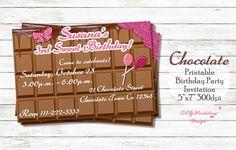 Chocolate invitation https://www.etsy.com/listing/457805208/chocolate-invitation-chocolate-theme