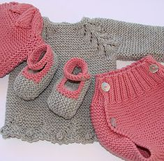 Bobbin Lace Patterns, Baby Knitting Patterns, Baby Patterns, Knitted Baby Cardigan, Dress With Cardigan, Diy Crafts Knitting, Baby Hats, Baby Dress, Crochet Baby
