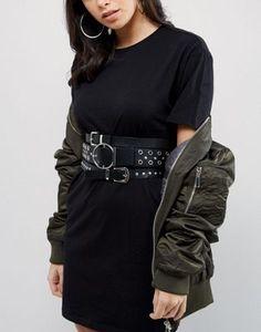 ASOS - Cintura multipla con borchie e occhielli