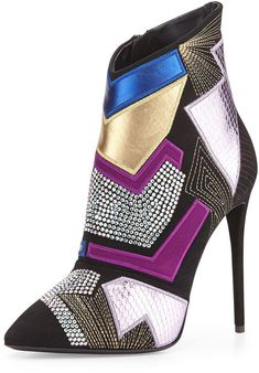 Giuseppe Zanotti Olinda Pop Art Suede Ankle Boot on shopstyle.com ( 1.6 K $)