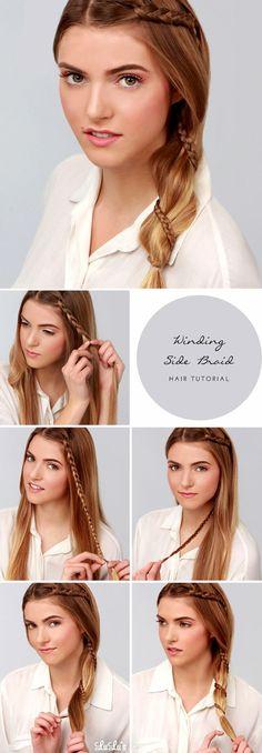 Winding Side Braid Hair Tutorial