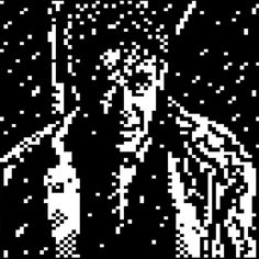 "Expecting more snow here in the 604 so here's a patented @horsenburger teletext rendition of a snowy scene from It's A Wonderful Life as seen in his advent calendar our ""Silent Night"" music video and the recent MIST1216 artpack release."