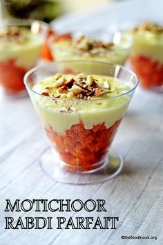 Motichoor rabdi parfait is an amazing fusion dessert wherein it uses Indian ingredients and is served in a western style.