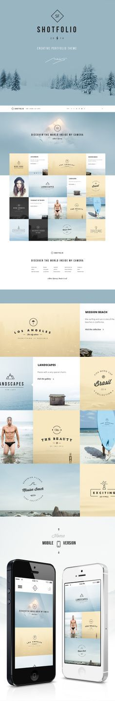 Shotfolio psd Theme  by Julián Pascual, via Behance