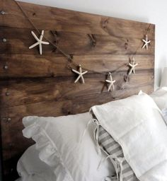 DIY reclaimed wood headboard