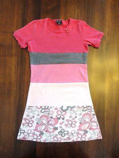 Kayboo Creations: Colur Block T-Shirt Dresses