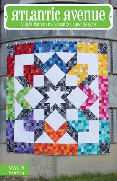 This fresh and modern take on a classic pattern is a fun way to go through those scrap bins and fat-quarter drawers. Let your mind take you away with the infinite color possibilities for this pattern!