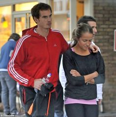 The first British man to win a grand slam singles title for 76 years at the US Open. Plus a girlfriend that does Pilates  it is no wonder that Andy Murray cannot stop smiling.          Murray, 25, has been attending pilates classes near the £6 million Surrey mansion he shares with his Smoken Hot Pilates Buffed 24-year-old girlfriend Kim Sears. Kim Murray, Hot Pilates, British Men, 24 Years Old, Man In Love, Cute Guys, Girlfriends, Pilates Classes, Chef Jackets