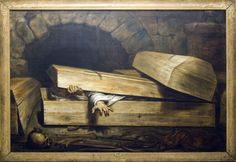 The Premature Burial, Antoine Wiertz, 19th century - Credit: wikimedia commons