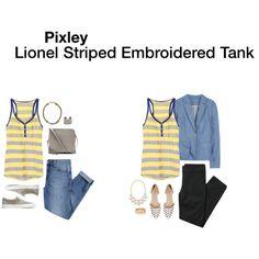 Pixley Lionel striped embroidered tank.  Looks comfy. https://www.stitchfix.com/referral/3990024