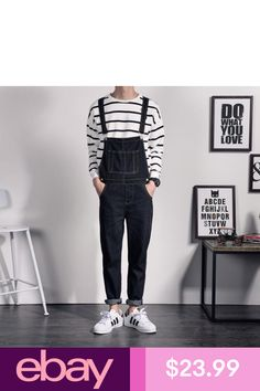 Cheap hip hop jeans, Buy Quality hip hop style jeans directly from China jeans homme Suppliers: Japan Style Mens Black Denim Overalls For Juniors Vintage Denim Bib Overalls Pants Hip Hop Jeans Homme Suspender Pants Long Overalls Fashion, Fashion Pants, Mens Fashion, Fashion Outfits, Fashion Clothes, Moda Hip Hop, Grunge Outfits, Casual Outfits, Hipster Outfits Men