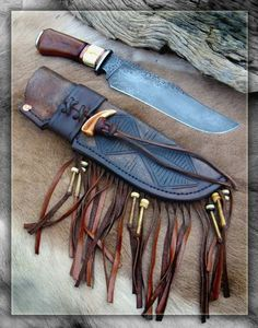 Explore Wayne Morgan& photos on Photobucket. Leather Quiver, Leather Holster, Axe Sheath, Knife Sheath, Knives And Tools, Knives And Swords, Diy Knife, Cowboy Gear, Knife Handles