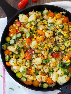 summer gnocchi with brown butter *try with cauliflower gnocchi from Trader Joe's